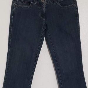 Ann Taylor Petites SlimFit Cropped Denim Blue Jean